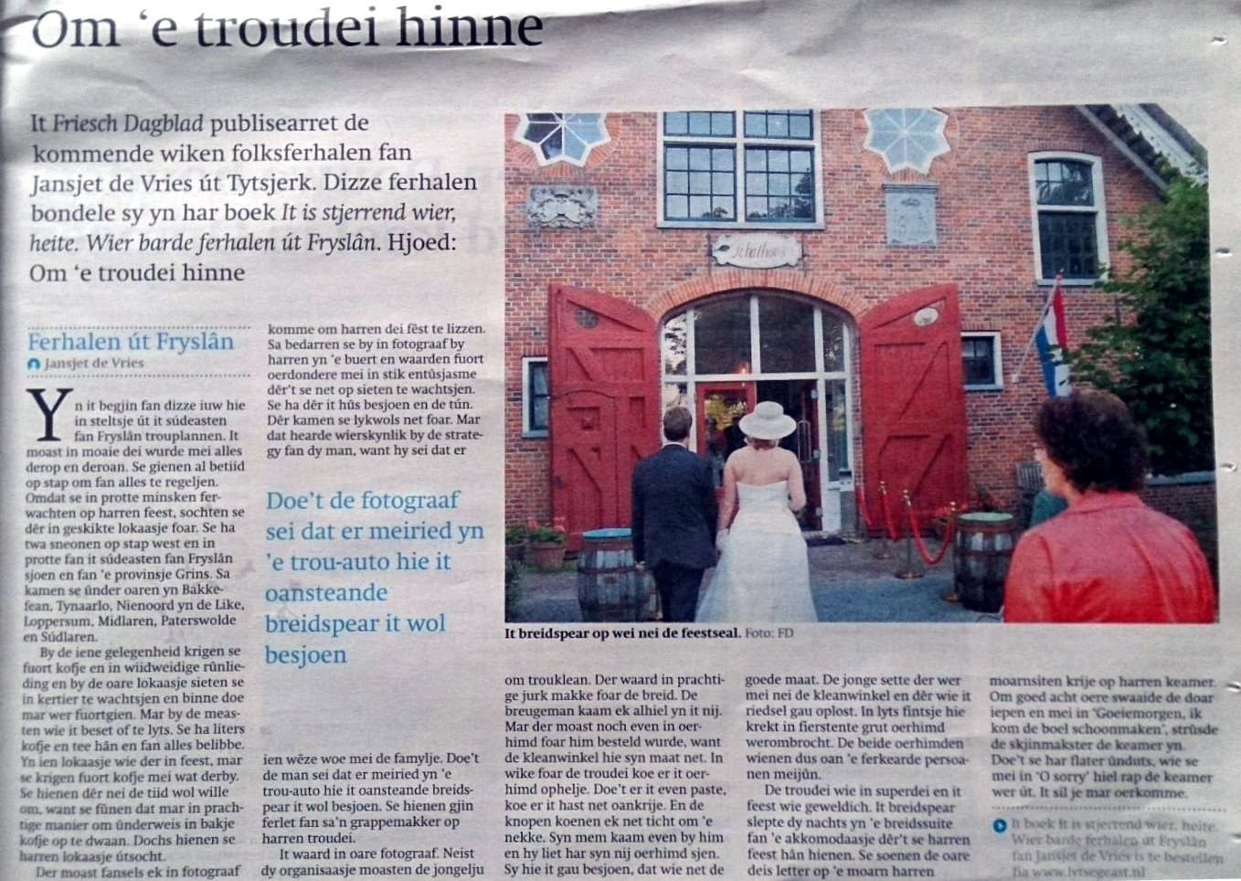 Folksferhalen yn it Friesch Dagblad